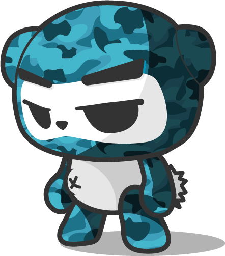 Military Camouflage Little Ninja Panda thumbnail